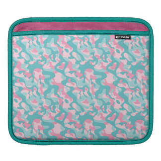 Spring Girly Camouflage Pattern iPad Sleeve