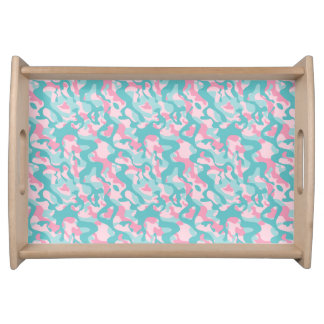 Spring Girly Camouflage Pattern Serving Tray