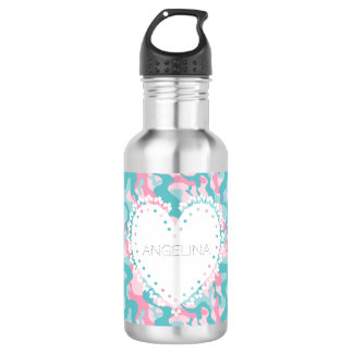 Spring Girly Camouflage Personalize 532 Ml Water Bottle