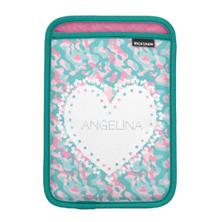 Spring Girly Camouflage Personalize iPad Mini Sleeve