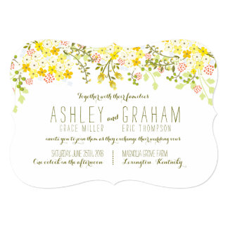 Spring Glory Yellow Floral Wedding Invitation