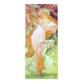 "Spring Goddess 4"" X 9.25"" Invitation Card"