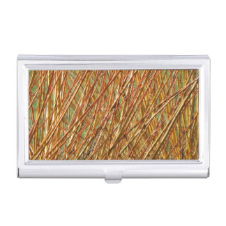 Spring Gold Branches Natural Pattern Business Card Holder