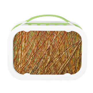 Spring Gold Branches Natural Pattern Lunch Boxes