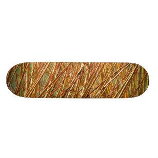 Spring Gold Branches Natural Pattern Skateboard Deck