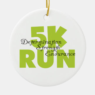 Spring Green 5K Run Ceramic Ornament