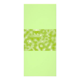 Spring Green and White Abstract Pattern Rack Card