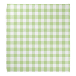 Spring Green and White Gingham Bandana