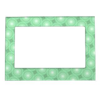 Spring green circles pattern magnetic frame
