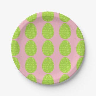 Spring Green Easter Egg Paper Plate