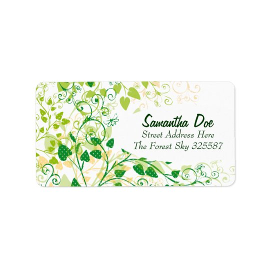 Spring Green Floral label