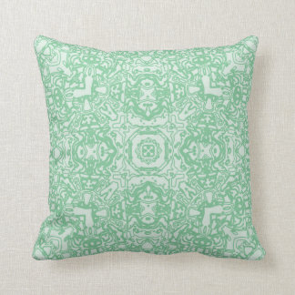 Spring Green Maze Kaleidoscope Pillow