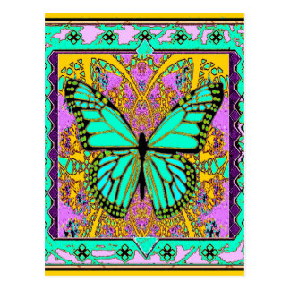 Spring Green Monarch Butterfly Gifts by Sharles Post Card
