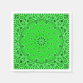 Spring Green Paisley Bandana Scarf BBQ Picnic Disposable Napkins