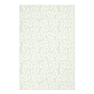 Spring Green Paisley Floral Personalised Stationery