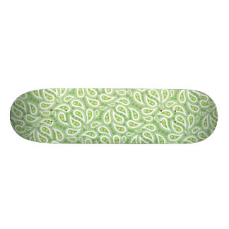 Spring Green Paisley Floral Skate Board Decks