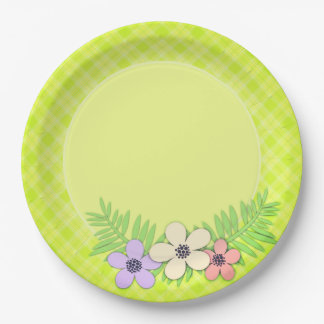 Spring, green paper plate