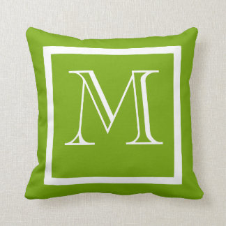 Spring Green Positive Negative Monogrammed Pillow