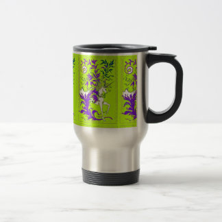 Spring Green Unicorn Wood Vine Gifts by sharles Travel Mug