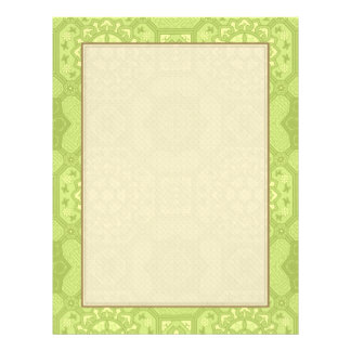 Spring Green Vintage Country Floral Pattern 21.5 Cm X 28 Cm Flyer