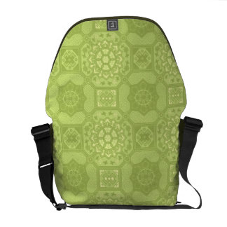Spring Green Vintage Country Floral Pattern Commuter Bags