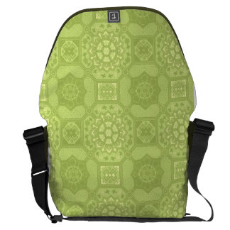 Spring Green Vintage Country Floral Pattern Courier Bag