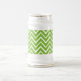 Spring green whimsical zigzag chevron pattern coffee mugs