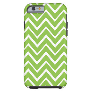Spring green whimsical zigzag chevron pattern tough iPhone 6 case