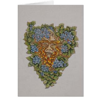 spring greenman greeting card