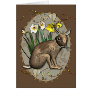 Spring Hare 1 Greetings Card