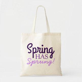 Spring Has Sprung! - Fun Purple Lavender Tote Bags