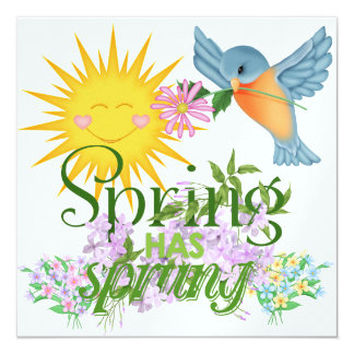 Spring Has Sprung - SRF 13 Cm X 13 Cm Square Invitation Card