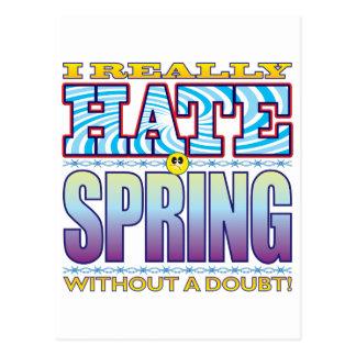 Spring Hate Face Postcard