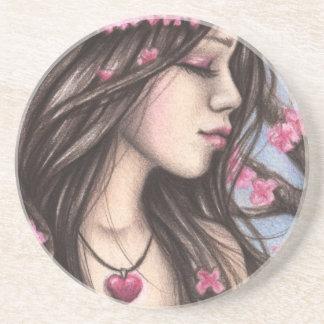 Spring Heart Coaster