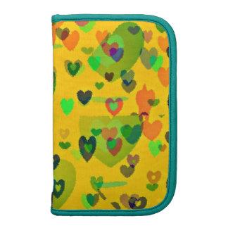 Spring heart fantasy smartphone folio organizer