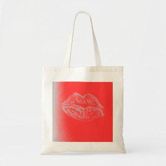 Spring Imagination - Lipstick Lips Canvas Bag
