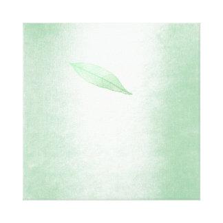 Spring Impressions Mint Green Leaf Canvas Print