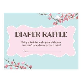 Spring in Bloom Diaper Raffle Ticket Card Postcard