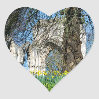 Spring in Museum Gardens Heart Sticker