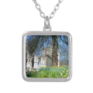 Spring in Museum Gardens Silver Plated Necklace