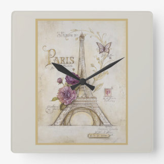 Spring In Paris Clock
