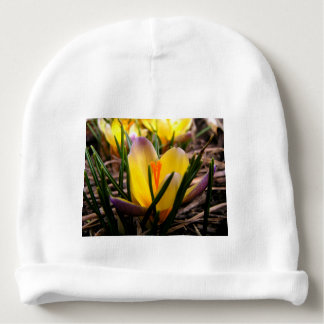 Spring in the air, Crocus are blooming! Baby Beanie