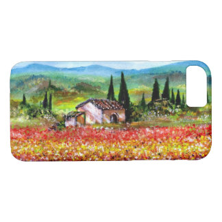 SPRING IN TUSCANY LANDSCAPE Colorful Flower Fields iPhone 8/7 Case