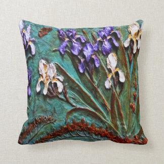 Spring Iris Sculptured Pillow by Sharles
