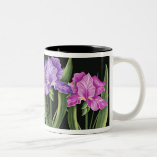 Spring Iris Two-Tone Coffee Mug
