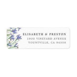 Spring Iris | Watercolor Floral Return Address Return Address Label
