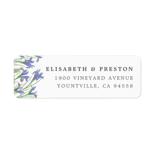 Spring Iris | Watercolor Floral Return Address Return Address Label