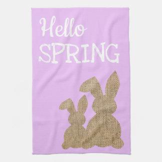 Spring Kitchen Decor | Hello Spring Tea Towel