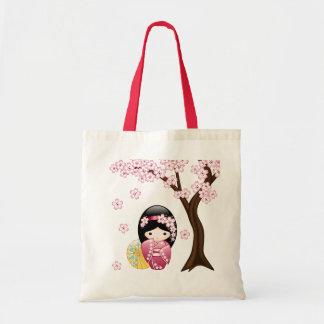 Spring Kokeshi Doll - Cute Japanese Geisha Girl