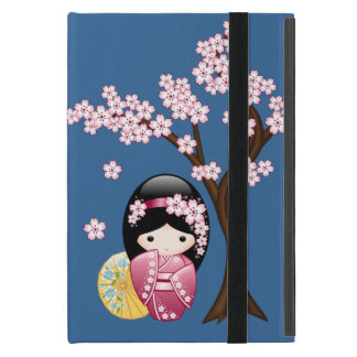 Spring Kokeshi Doll - Cute Japanese Geisha Girl iPad Mini Cover